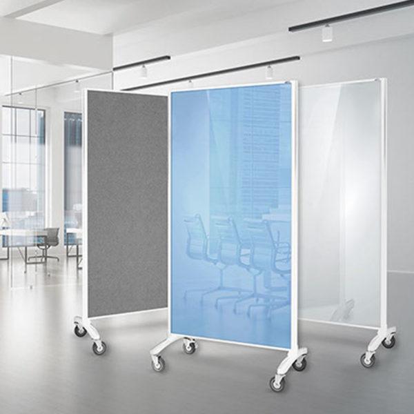 Glass Mobile Room Divider Screens